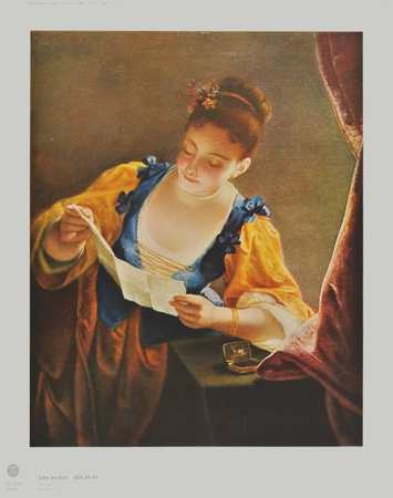 The Letter Collectable Print by Jean Raoux