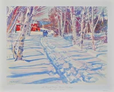 Landscape in Winter Collectable Print by Dodge Mac Knight