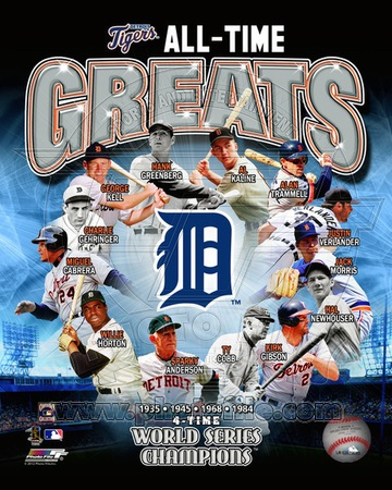 Detroit Tigers All Time Greats Composite Photo