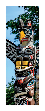 Totem Poles, Stanley Park, Vancouver, British Columbia Prints by Jeff Maihara