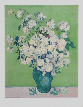 White Roses Collectable Print by Vincent van Gogh