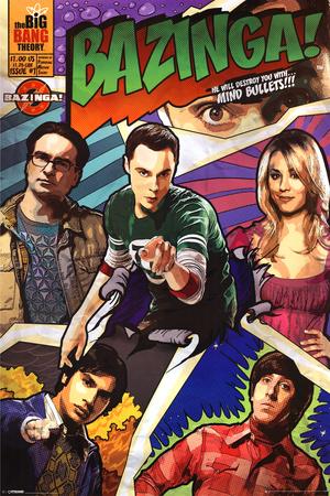Big Bang Theory-Comic Bazinga Stampe