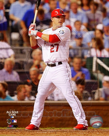 MLB Mike Trout 2012 MLB All-Star Game Action Photo