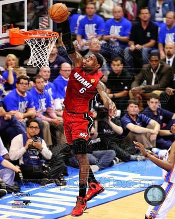 LeBron James Game 1 of the 2012 NBA Finals Action Photo!