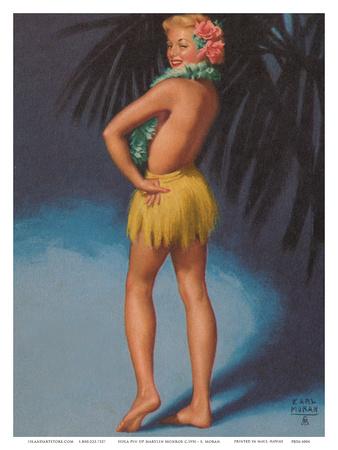 Hula Pin Up Marylin Monroe c.1951 Prints by Earl Moran