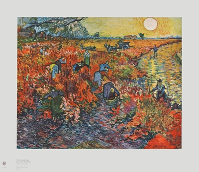 The Red Vineyards Collectable Print by Vincent van Gogh