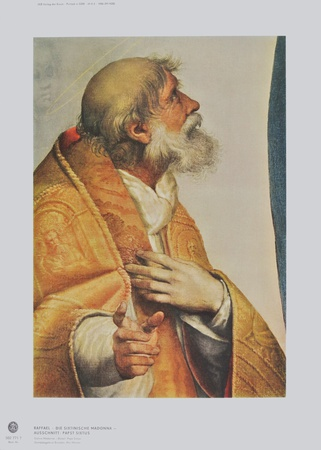 Sistinine Madonna - Pope Sixtus (Detail) Collectable Print by  Raphael