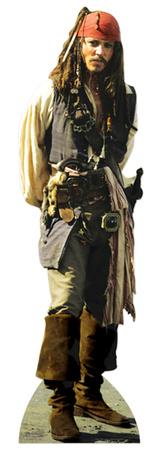Captain Jack Sparrow Pappfiguren