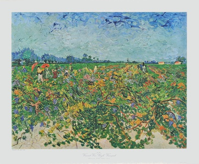 The Vineyard Collectable Print by Vincent van Gogh