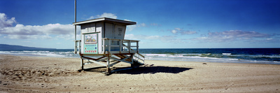 Lifeguard Hut on the Beach, 8th Street Lifeguard Station, Manhattan Beach, Los Angeles County, C... Photographic Print by  Panoramic Images