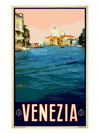 Canal in Venice Italy 2 Giclée-tryk af Anna Siena