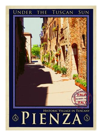Pienza Tuscany 4 Giclee Print by Anna Siena