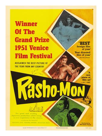 Japanese Movie Poster - Rashomon in English Giclee Print