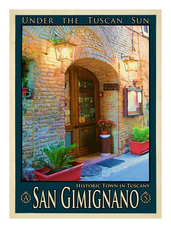 San Gimignano Tuscany 9 Giclee Print by Anna Siena