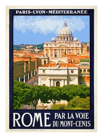 St. Peter's Basilica, Roma Italy 6 Giclée-tryk af Anna Siena
