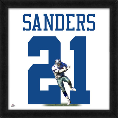 Deion Sanders, Cowboys representation of the player's jersey Framed Memorabilia
