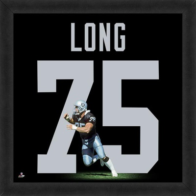 Howie Long, Raiders representation of the player's jersey Framed Memorabilia