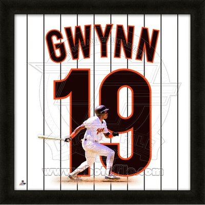 Tony Gwynn, Padres representation of the player's jersey Framed Memorabilia