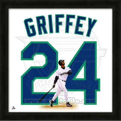 Ken Griffey, Jr., Mariners representation of the player's jersey Framed Memorabilia
