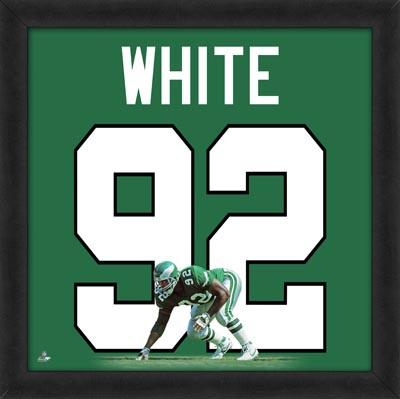 Reggie White, Eagles photographic representation of the player's jersey Framed Memorabilia
