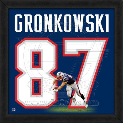 Rob Gronkowski, Patriots representation of the player's jersey Framed Memorabilia