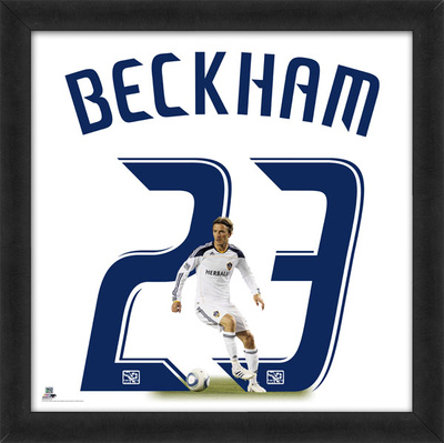 David Beckham, Galaxy representation of the player's jersey Framed Memorabilia