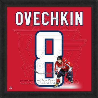 Alex Ovechkin, Capitals photographic representation of the player's jersey Framed Memorabilia