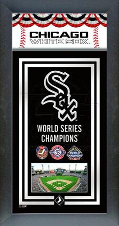 Chicago White Sox Framed Championship Banner Framed Memorabilia