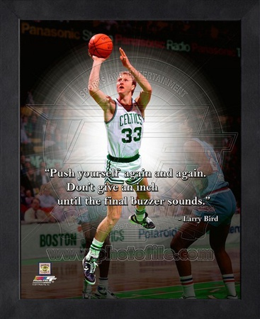 Larry Bird ProQuote Framed Memorabilia!