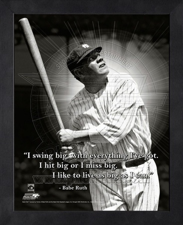 Babe Ruth, New York Yankees, ProQuote Framed Memorabilia