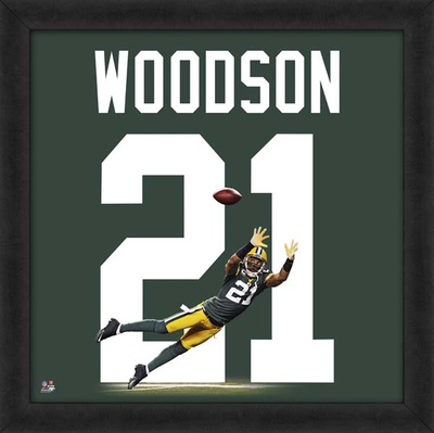 Charles Woodson, Packers representation of the player's jersey Framed Memorabilia
