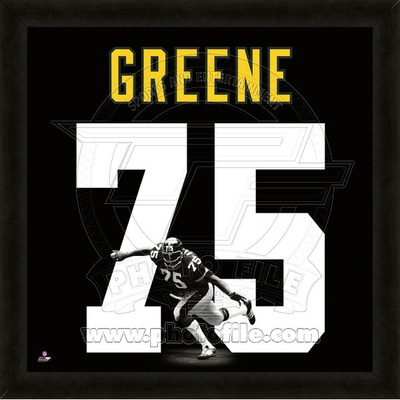 Joe Greene, Steelers representation of the player's jersey Framed Memorabilia