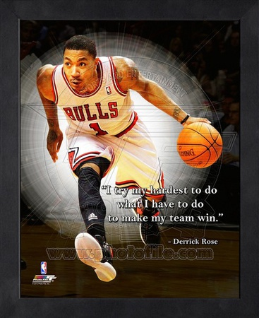 I try my hardest to do what I have to do to make my team win, Derrick Rose quote photo