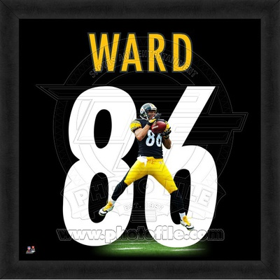Hines Ward, Steelers representation of the player's jersey Framed Memorabilia