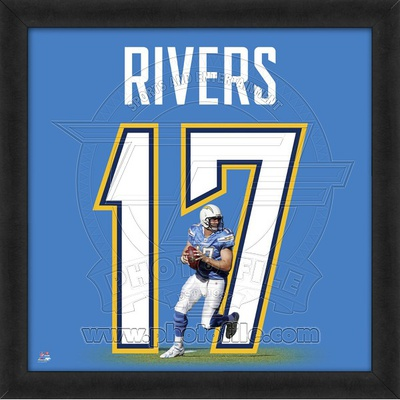 Philip Rivers, Chargers representation of the player's jersey Framed Memorabilia