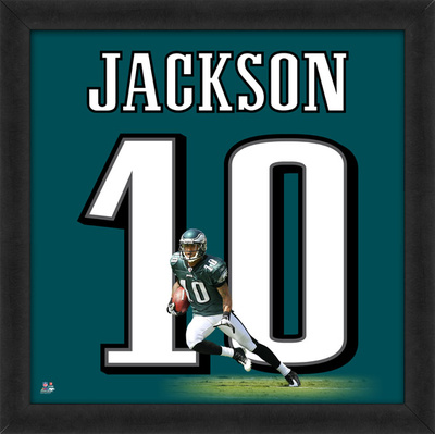 DeSean Jackson, Eagles photographic representation of the player's jersey Framed Memorabilia