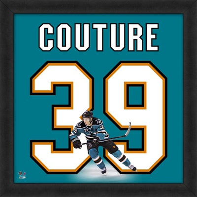 Logan Couture, Sharks representation of the player's jersey Framed Memorabilia