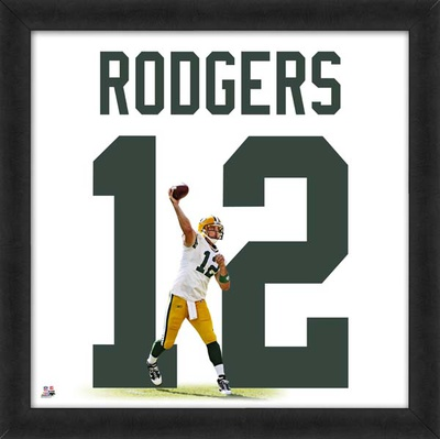 Aaron Rodgers, Packers representation of the player's jersey Framed Memorabilia