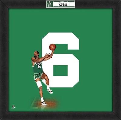 Bill Russell, Celtics  Representation of the player's jersey Framed Memorabilia