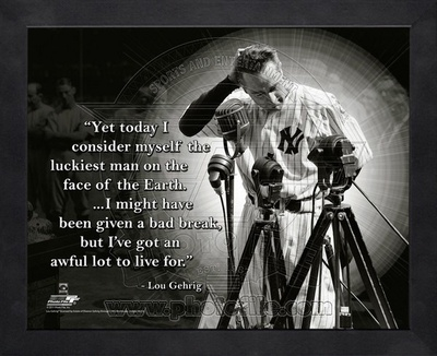 Lou Gehrig ProQuote Framed Memorabilia