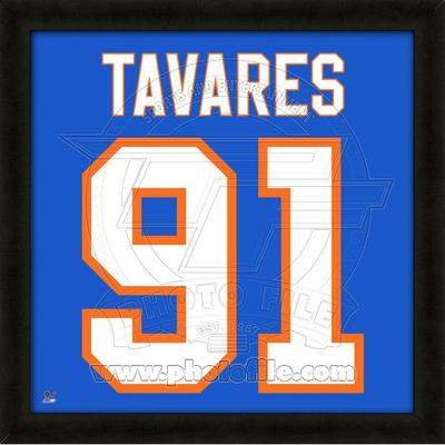 John Tavares, Islanders photographic representation of the player's jersey Framed Memorabilia