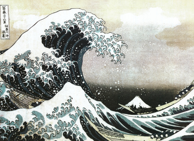 The Great Wave off Kanagawa, c. 1829 Kunstdrucke von Katsushika Hokusai