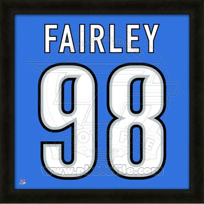Nick Fairley, Lions representation of the player's jersey Framed Memorabilia