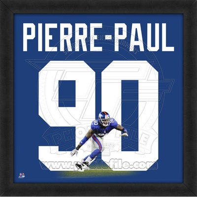 Jason Pierre-Paul, Giants representation of the player's jersey Framed Memorabilia