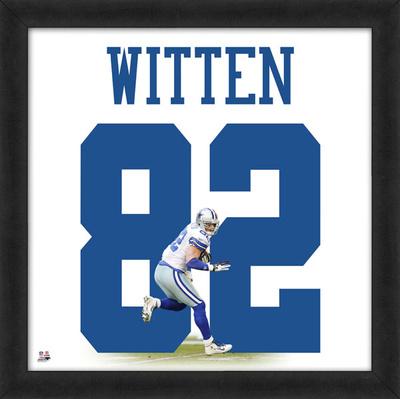 Jason Witten, Cowboys representation of the player's jersey Framed Memorabilia