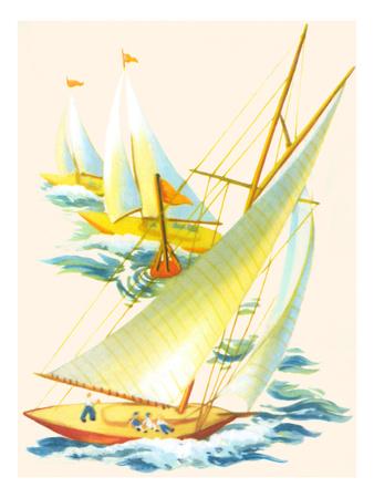 Sailboat Race Art
