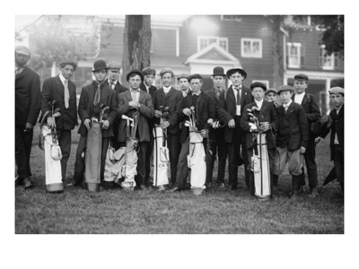 Private Golf Club Caddies at Baltusrol in New Jersey Print