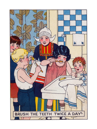 Brush Your Teeth Twice a Day Prints