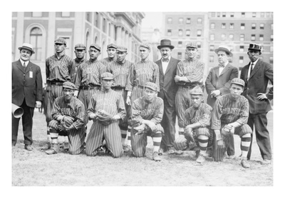 Chinese Baseball Team from Hawaii in Team Portrait Art