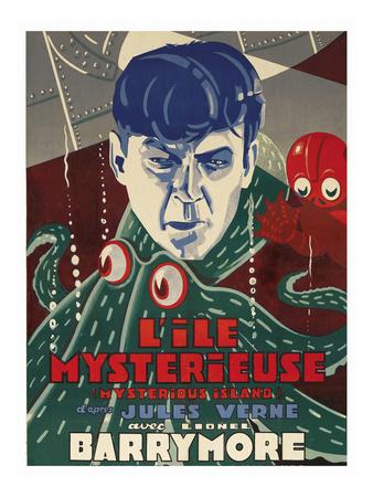 "Mysterious Island ""Lile Mysteriseus"" Posters"